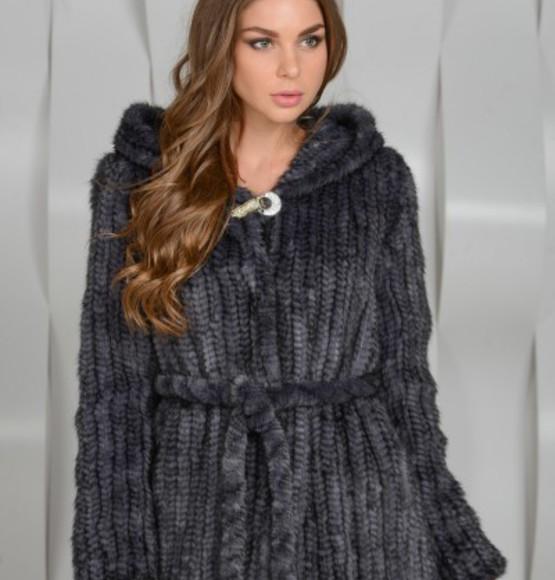 Куртка из вязаной норки